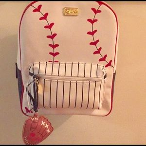 Betsey Johnson baseball backpack NWT